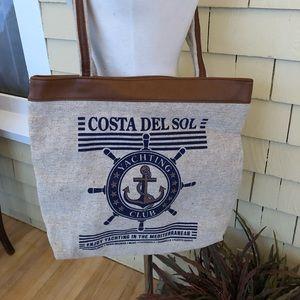 Handbags - Vintage carry on/tote bag costa del sol new